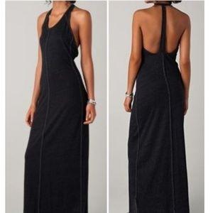 Chaser Dark Gray T-Back Maxi Dress